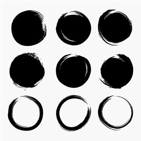 Circle Splatter Ink Dots Vector
