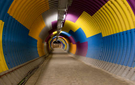 underpass: Underpass art colorful tunnel 1