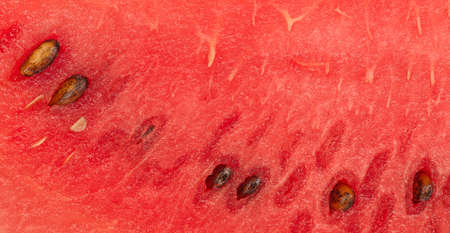 Watermelon red fruit texture background. Ripe juicy summer fruit watermelon texture
