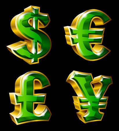 金の通貨記号形式でのセットです。