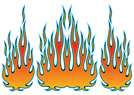 Tribal hotrod muscle car flame kit for car hoods and sides. Can be used as decals or even tattoos too.