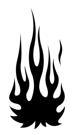 Classic tribal hotrod muscle car flame kit. Can be used as decals or even tattoos too.