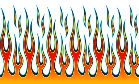 Classic tribal hotrod muscle car flame pattern.  Can be used as decals or even tattoos too. Stock fotó - 90578789
