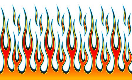 Klassiek tribaal hotrod-vlammenpatroon van de spierauto. Kan ook als stickers of zelfs tatoeages worden gebruikt. Stock Illustratie