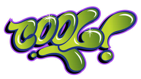 A Vector cool word lettering in urban graffiti style in customizable colors.