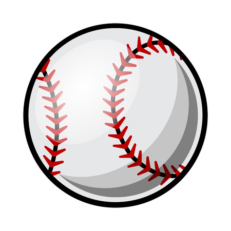 Baseball ball vector illustration isolated on white background. Ideal for logo design element, sticker, car decals and any kind of decoration. Illustration