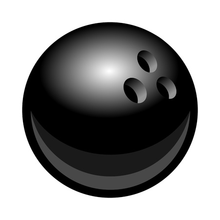 Bowling ball vector illustration isolated on white background. Ideal for logo design element, sticker, car decals and any kind of decoration.