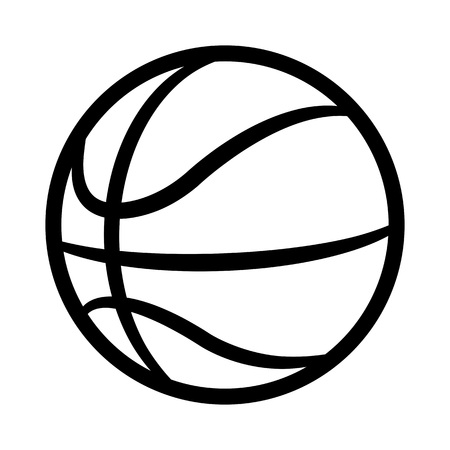 Basketball ball silhouette vector illustration isolated on white background. Ideal for logo design element, sticker, car decals and any kind of decoration.
