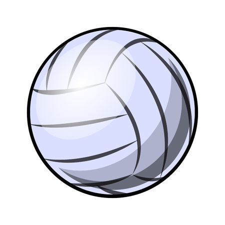 Volleyball ball vector illustration isolated on white background. Ideal for logo design, sticker, decal and any kind of decoration. 矢量图像