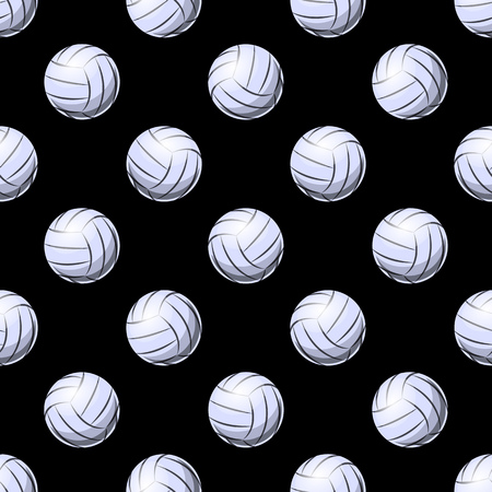 Seamless pattern with volleyball ball symbol. Vector illustration. Ideal for wallpaper, packaging, fabric, textile, wrapping paper design and any kind of decoration. Illustration