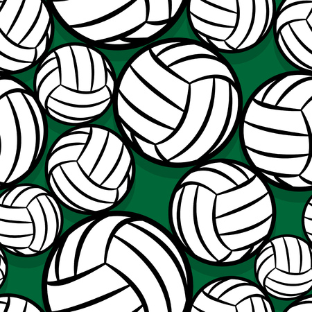 Seamless pattern with volleyball ball symbol. Vector illustration. Ideal for wallpaper, packaging, fabric, textile, wrapping paper design and any kind of decoration.