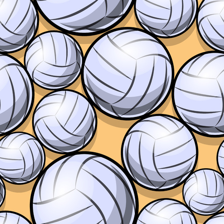 Volleyball ball graphic seamless pattern. Vector illustration. Ideal for wallpaper, packaging, fabric, textile, wrapping paper design and any kind of decoration.
