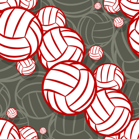 Volleyball ball graphic seamless pattern. Vector illustration. Ideal for wallpaper, packaging, fabric, textile, wrapping paper design and any kind of decoration. Vector Illustration