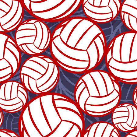 Volleyball ball icon seamless pattern. Vector illustration. Ideal for wallpaper, packaging, fabric, textile, wrapping paper design and any kind of decoration.