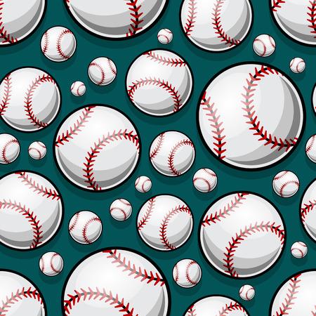 Modèle sans couture avec des graphiques de balle de baseball softball. Illustration vectorielle. Idéal pour le papier peint, l'emballage, le tissu, le textile, la conception de papier d'emballage et tout type de décoration.