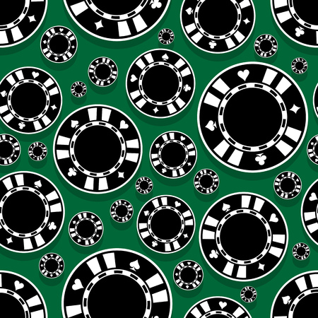 Casino poker chips icon seamless pattern. Digital printable vector illustration. Ideal for wallpaper, covers, wrapper, packaging, textile, fabric and any print design.