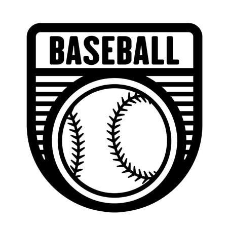 Baseball sports logo template, vector art graphic. Ideal for baseball team logo, t-shirt design.