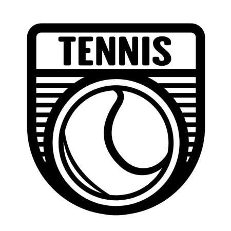 Tennis sports logo template, vector art graphic. Ideal for tennis club logo, t-shirt design. Иллюстрация