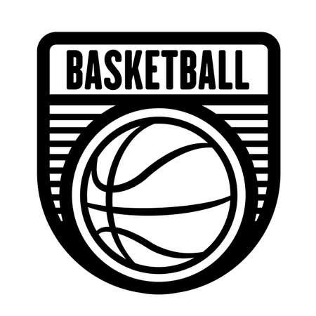 Basketball sports logo template, vector art graphic. Ideal for basketball team logo, t-shirt design. Иллюстрация