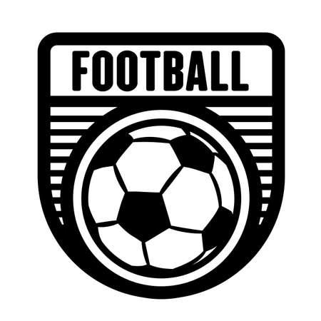 Football, soccer sports logo template, vector art graphic. Ideal for football, soccer team logo, t-shirt design.