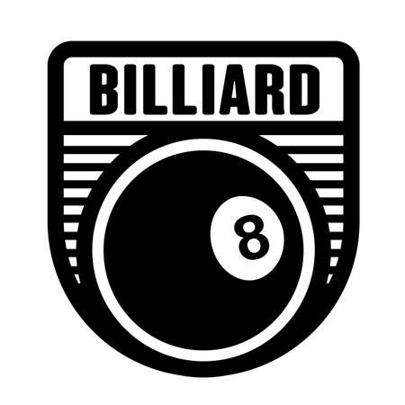 Billiard, snooker club logo template, vector art graphic. Ideal for snooker, billiard club and team logo, t-shirt design.