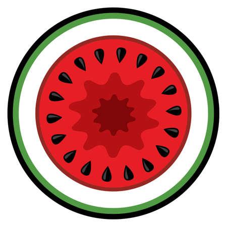 Melon fruit slice vector art graphic isolated on white background. Иллюстрация