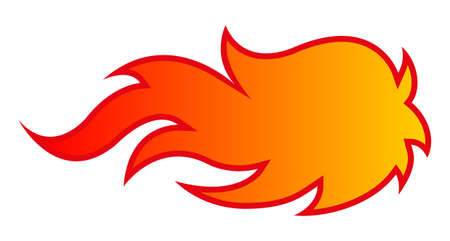 Fire flame vector art illustration isolated on white background. Ideal for design, stickers, decals and any kind of decoration. Illustration