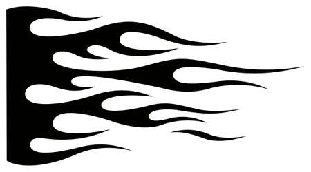 Tribal hotrod muscle car silhouette flame graphic for car hoods and sides. Can be used as decals, mask and tattoos too. Иллюстрация