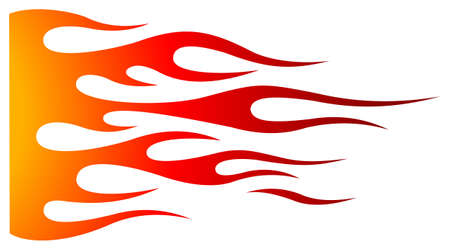 Tribal hotrod muscle car flame graphic for hoods, sides and motorcycles. Can be used as decal, sticker or tattoos too. Иллюстрация
