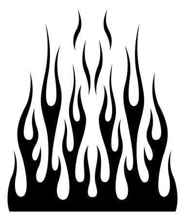 Tribal hotrod muscle car silhouette flame graphic for car hoods and roofs. Ideal for decals, stickers, mask and tattoos too. Иллюстрация