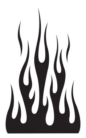 Hot rod flame silhouette blaze graphic for car hoods and roofs. Ideal for decal, sticker, stencil and tattoo design too.