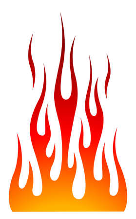 Hot rod blaze and flame graphic for car hoods and roofs. Ideal for decal, sticker, stencil and tattoo design too.