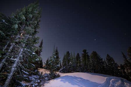 siberia: beautiful night sky in Siberia Russia