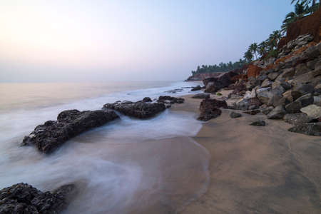 varkala: beautiful view on a cliff by the ocean in Varkala