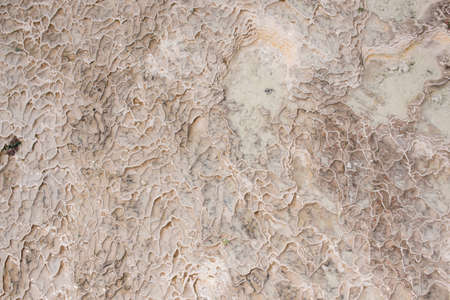carbonates: Surface in Pamukkale of stone and water