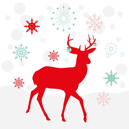 deers in Christmas, beautiful illustrations for textiles