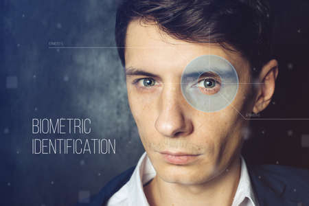 biometric: Biometric verification. facial recognition to retinal scan