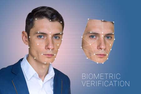 Biometric verification - man face recognition