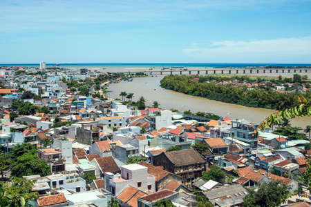 panorama of the city from the height, Phu Yen, Vietnam
