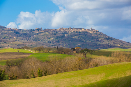 View of Montalcino (Tuscany, Italy)