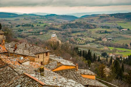 View of the valley around Montepulciano