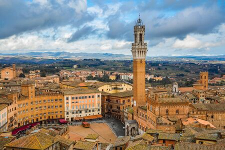 City view of Siena cityscape Stok Fotoğraf