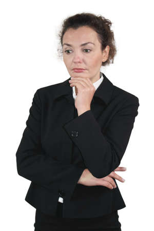 body language: Business woman - Type Melancholic
