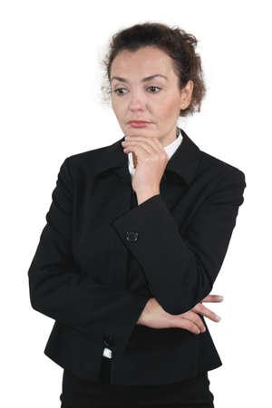 lenguaje corporal: Mujer de negocios - tipo melanc�lico