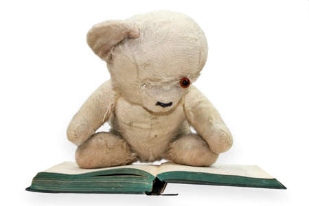 Teddy reads  Stock Photo - 8708322