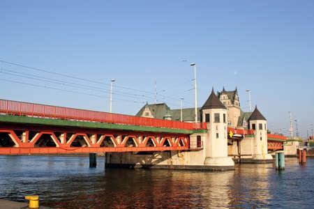 Long Bridge in Szczecin, Poland