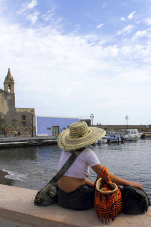 lipari: At the port of Lipari, near by Sicily
