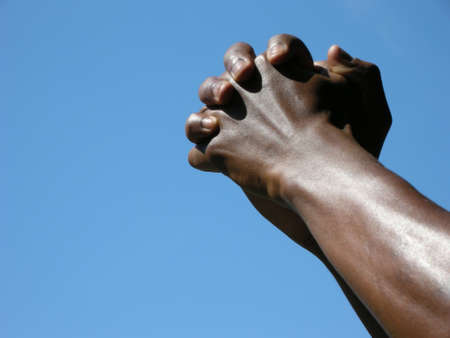 cohesion: Cohesion - two strong arms reach up into the sky