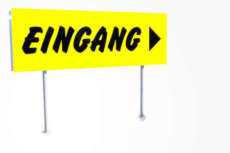 commercially: Entrance - Entrance sign isolated against a white background