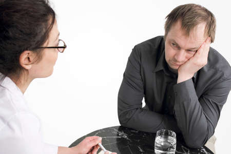 psychotherapy: Psychotherapy - Patient feels no desire to open